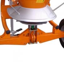 trailed fertilizer spreader single disc